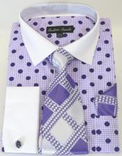 Purple Colorful Mens Dress Shirt