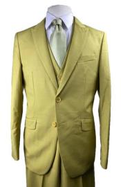 - Gold - Canary Mustard Color Suit