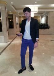 Blazer Blue Pants