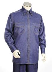 Blue Long Sleeve Walking Leisure Casual Suit For Sale