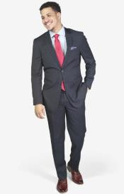 Navy Stretch Armhole for comfort 2-button Suit