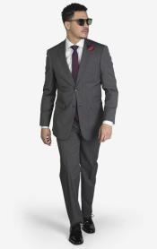 Medium Grey Houndstooth Slim Fit 2-button Suit