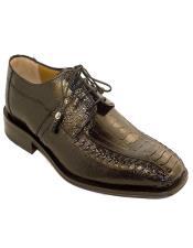 Mens Black Color Ostrich Shoes
