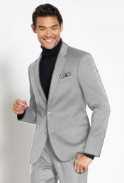 Suit Wool Fabric + Free Turtleneck Sweater Package Light Gray