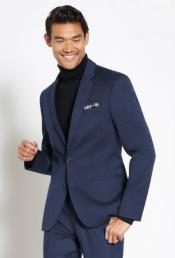 Suit Wool Fabric + Free Turtleneck Sweater Package Indigo