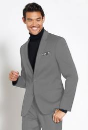 Suit Wool Fabric + Free Turtleneck Sweater Package Medium Grey