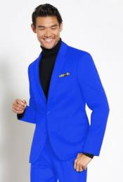 Suit Wool Fabric + Free Turtleneck Sweater Package Sapphire