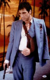 Blue One Button Scarface Suit