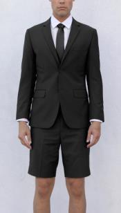 Mens Black Short Suit