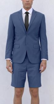 Mens Blue Short Suit
