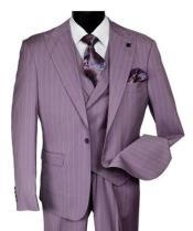 Stacy Adams Purple Stripe 3 Piece Suit Vest Ken 9204-649