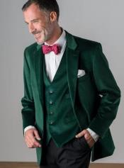 Slim Fit Emerald Green Velvet Suit