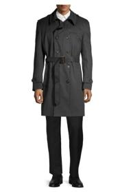 Lauren Black Trench Coat Belted