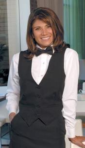 WoMens Tuxedo Vest 4 Buttons - Black
