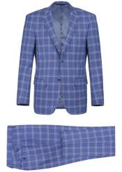 Renoir Marino Slim Fit Suit Style# Plaid Suit - Checkered Suit -