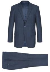 Renoir Marino Classic Fit Suit Style# Plaid Suit - Checkered Suit -