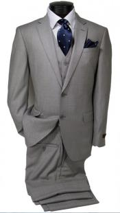 100% Wool Fabric - Slim or Modern Fit Suit - Classic Fit