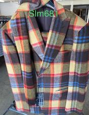 Mens Plaid Suit - Checkered Suit - Houndstooth Suit - Fashion Suit