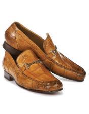 Mauri Chestnut Alligator Loafers Chestnut Brown Shoes