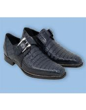 Italy Shoes Blue Crocodile Shoes