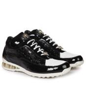 Mauri Italy Full Leather Linings Black ~ White Sneakers