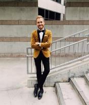 Brown Velvet Tuxedo + Matching Bow Tie