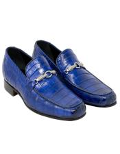 Mauri Mauri Royal Blue Alligator Shoes