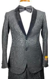 Floral Suits - Paisley Suit - Fashion Suits - Wedding Suit Black