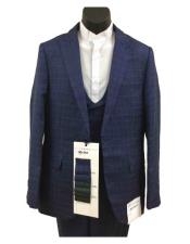 Plaid Suits - Window Pane Fashion Suits Suits 3 Piece Suit Vested