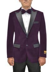 Purple Velvet Blazer - Velvet Tuxedo