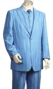 Shiny Blue Suit - Light Blue Suit - Baby Blue Suit -