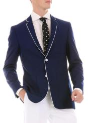 Mens Blue Blazer - Blue Sport Coat - Casual Slim Fit Blazer