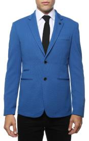 Mens Blue Blazer - Blue Sport Coat  - Casual Slim Fit