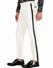 Pants - Flat Front Pants Off-White