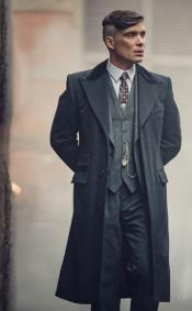 Thomas Shelby Costume Jacket + Pants + Vest + Overcoat + Hat