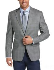 Charcoal Grey Blazer - Plaid Gray Blazer