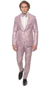 Floral Suit - Paisley Suit - Fashion Suit Lavender