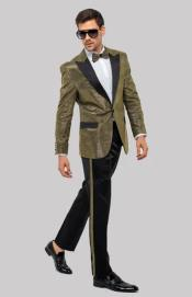 Suit - Gold Tuxedo
