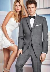 Grey Wedding Suit - Vested Slim Suit - Three Piece Suit