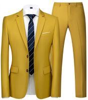 Mens Gold Suit