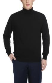 Mens Luxuriously Soft Cashmere Crewneck Sweater Black