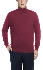 Mens Luxuriously Soft Cashmere Crewneck Sweater Burgundy