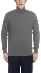Mens Luxuriously Soft Cashmere Crewneck Sweater Grey