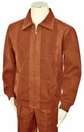 Mens Bagazio Cognac Microsuede Sweater