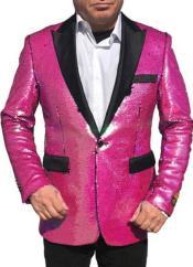 Hot Pink Tuxedo - Prom Pink Tuxedo - Rose Pink Tuxedo -