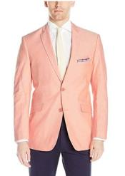 Mens Chambray Sportcoat - Chambray Blazer - Summer Cotton Blazer Orange