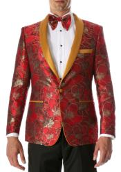 Red and Gold Tuxedo - Red