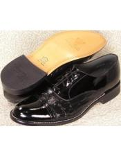 Mens Stacy Baldwin Cap Toe Lace Oxford Shoes Black