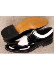 Mens Stacy Baldwin Spectator Shoes Black and White