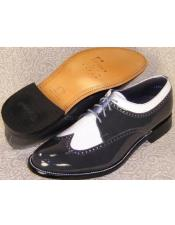 Mens Stacy Baldwin Spectator Shoes Grey and White